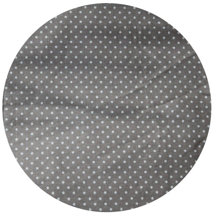 Coton Fond Beige Mini Pois