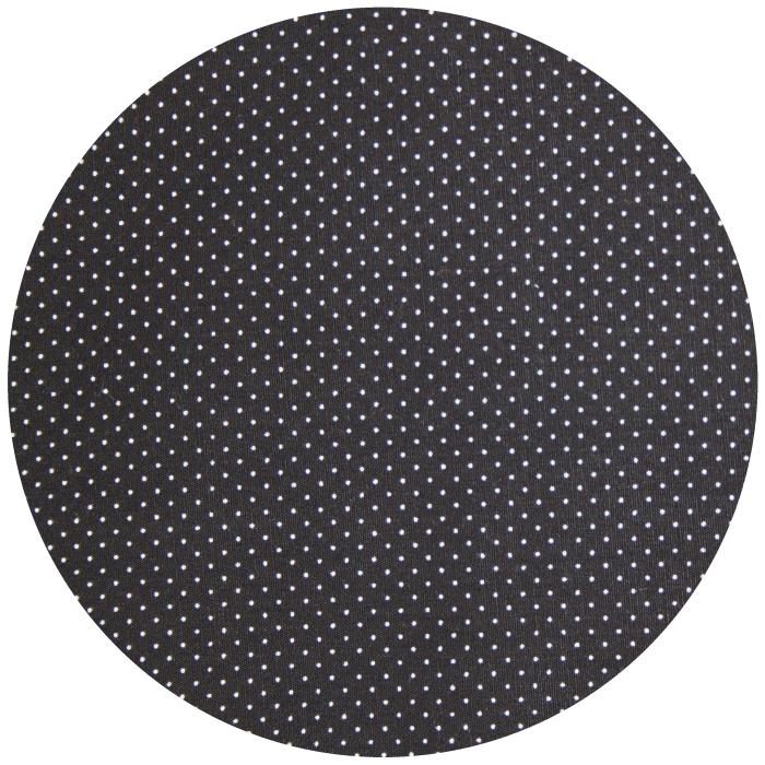 Coton Fond Noir Mini Pois