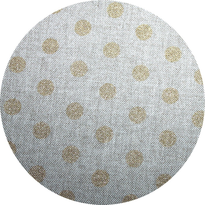 Toile Lin Pois Or