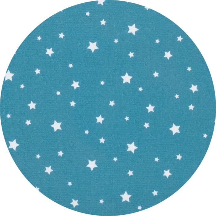 Bleu Paon Etoiles Blanches