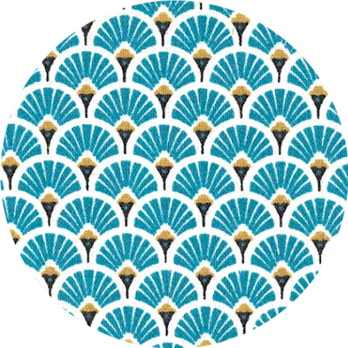 Ecailles Bleu Paon