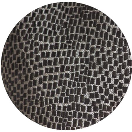 Toile Mosaique Argent Noir