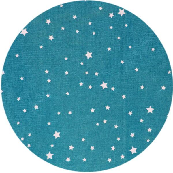 Bleue Turquoise Etoiles Blanches