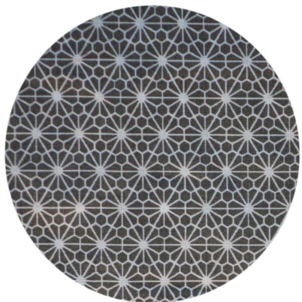 Fleurs Geometriques Grises