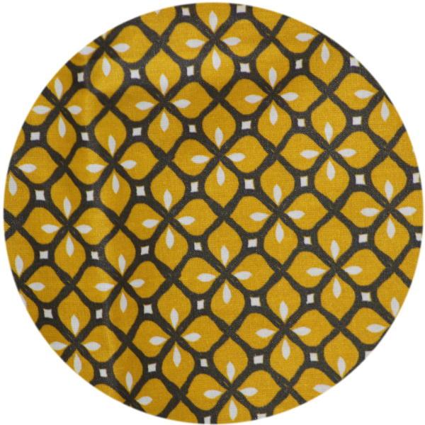 Geometrique Moutarde Gris