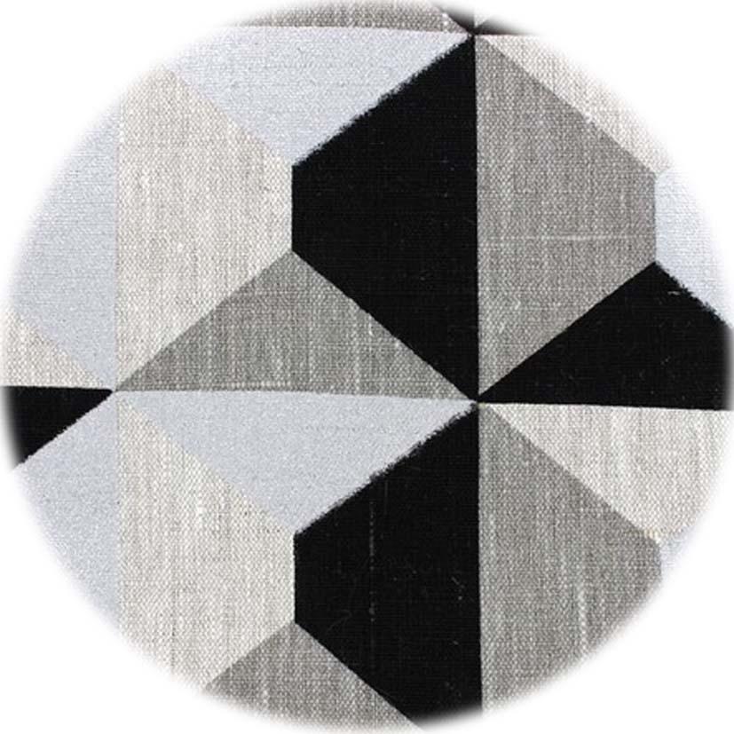 Toile Géométrique Argent Noir