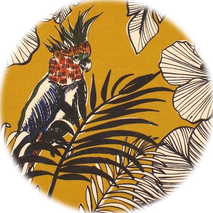 Toile Jungle Moutarde